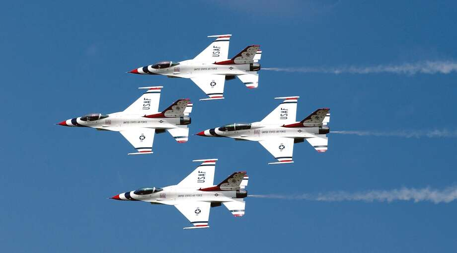 The United States Air Force's Thunderbirds will perform at Scott Air Force Base's 100th anniversary in June, 2017. Photo: For The Edge