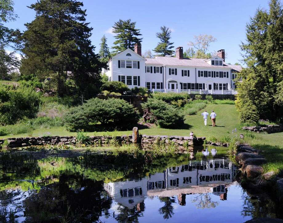 A small pond is part of the property of the historic 1750s Colonial-era home of Gregory Green and his wife Elise Green at 29 Taconic Road in Greenwich, Conn., Friday, May 26, 2017. Photo: Bob Luckey Jr. / Hearst Connecticut Media / Greenwich Time