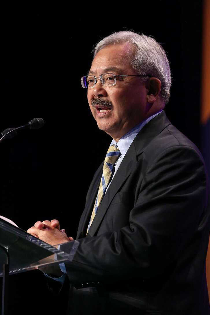 Mayor Ed Lee speaks at the SF Travel Association annual luncheon on Thursday, June 1, 2017 in San Francisco, Calif.