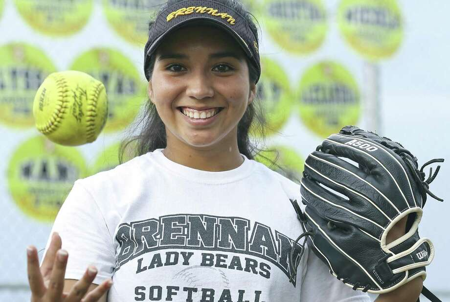 Brennan senior Clarissa Hernandez, posing at the school, is the 2017 Express-News All-Area Softball Player of the Year. Photo: Tom Reel /San Antonio Express-News / 2017 SAN ANTONIO EXPRESS-NEWS