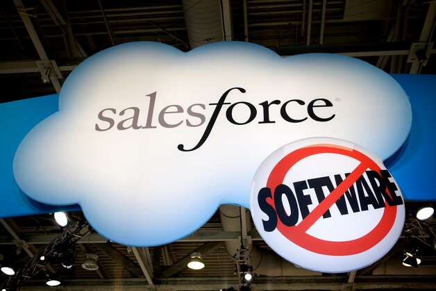 """Salesforce: Company will take a """"phased"""" approach to reopening offices, but employees may work from home through the end of the year. Salesforce will take a """"very careful, phased approach"""" to reopening its offices to workers, The San Francisco Chronicle reported. Its employees will be allowed to work from home through the end of the year, but upon return the office will look a lot different: Masks will be mandatory, and there will be hand sanitizer and places to scan worker temperatures on each floor. The company is also considering adding clear dividers between desks, as well as new installations of common surfaces made of copper and brass, both of which are known to kill microbes. Photo: (Photo By Kim Kulish/Corbis Via Getty Images)"""