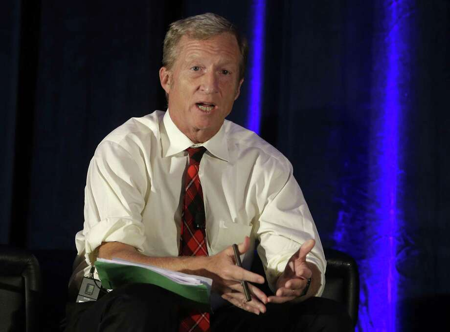"S.F. billionaire and environmental activist Tom Steyer, seen in 2015, ""has considered running for office"" an adviser says. Photo: Rich Pedroncelli / Rich Pedroncelli / Associated Press 2015 / Copyright 2016 The Associated Press. All rights reserved. This material may not be published, broadcast, rewritten or redistribu"