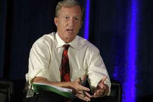 """S.F. billionaire and environmental activist Tom Steyer, seen in 2015, """"has considered running for office"""" an adviser says."""