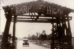 Camp Logan, Circa 1917, now the site of Memorial Park, was once a training camp for approximately 34,000 soldiers during World War I. Remnants of the camp can be seen today. (Memorial Park Conservancy)