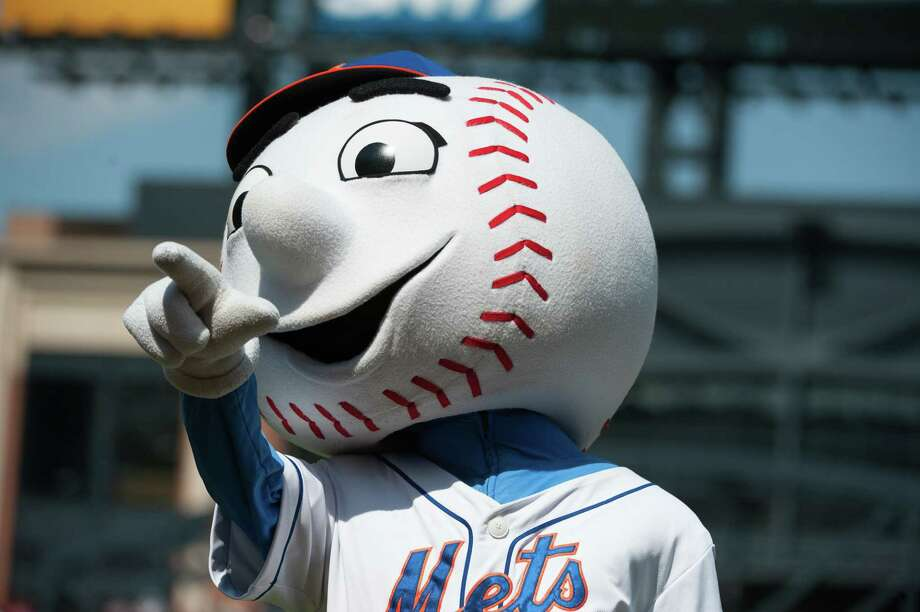 With a new person inside, New York's beloved mascot Mr. Met returned to Citi Field following Wednesday's obscene gesture. Photo: Thomas Levinson, Stringer / 2013 Major League Baseball Photos