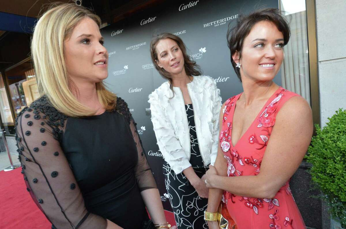 Changemaker Jenna Bush Hager and Honoree Christy Turlington Burns joins Chairman of the Board and Founder Wendy Stapleton-Reyes on the red carpet for the 3rd annual Changemaker Honoree Gala. Community joins them on the red carpet at the cocktail reception at Betteridge Jewelers to kick off the 2017 Greenwich International Film Festival on Thursday June 1, 2017 in Greenwich Conn.