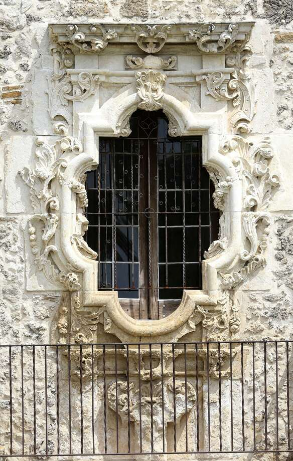 The Rose Window at Mission San Jose. Photo John Davenport /San Antonio Express & Legends surround Rose Window - San Antonio Express-News