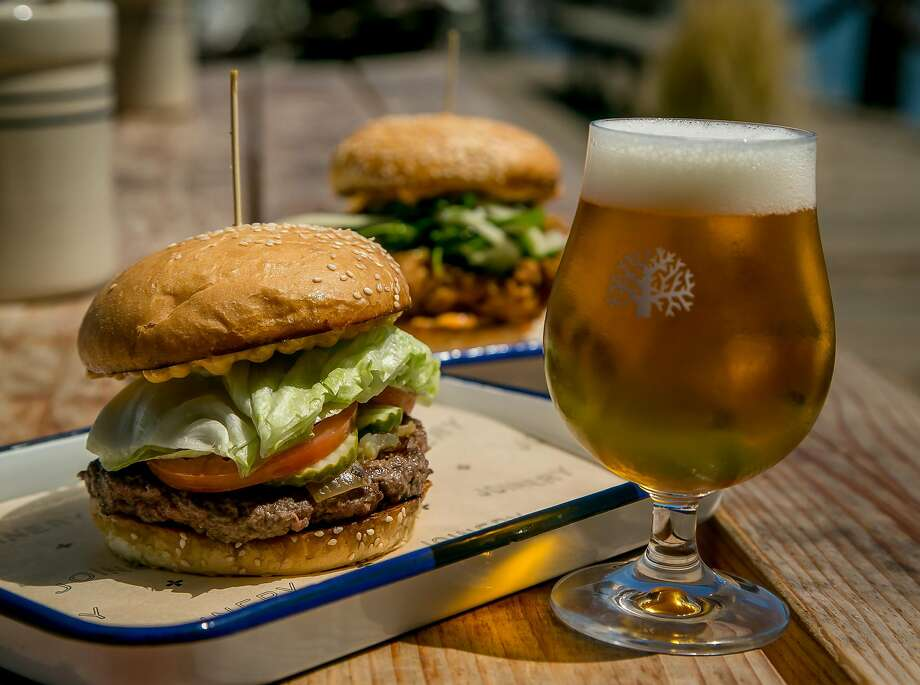 At Joinery in Sausalito: Hamburger and a beer Photo: John Storey, Special To The Chronicle