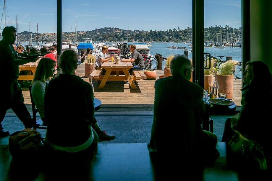 People have lunch at Joinery in Sausalito. Photo: John Storey, Special To The Chronicle