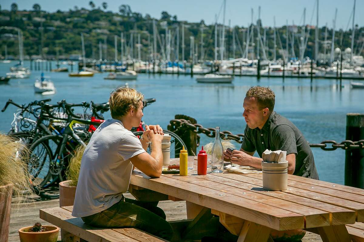 People have lunch at Joinery in Sausalito, Calif., on June 1st, 2017.