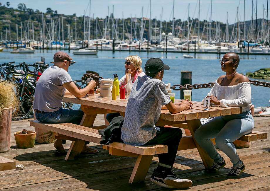 People have lunch on the deck at Joinery in Sausalito, Calif., on June 1st, 2017. Photo: John Storey, Special To The Chronicle