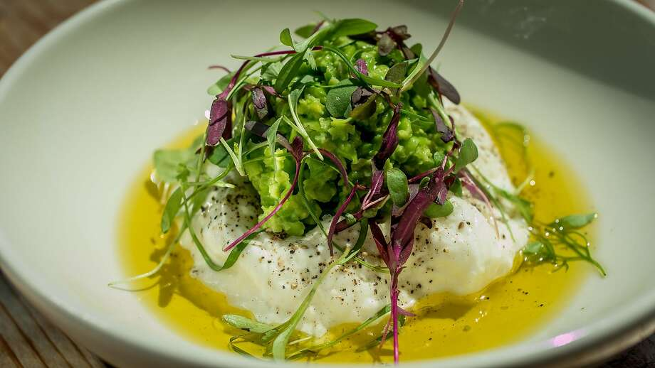 Burrata and peas at Joinery. Photo: John Storey, Special To The Chronicle