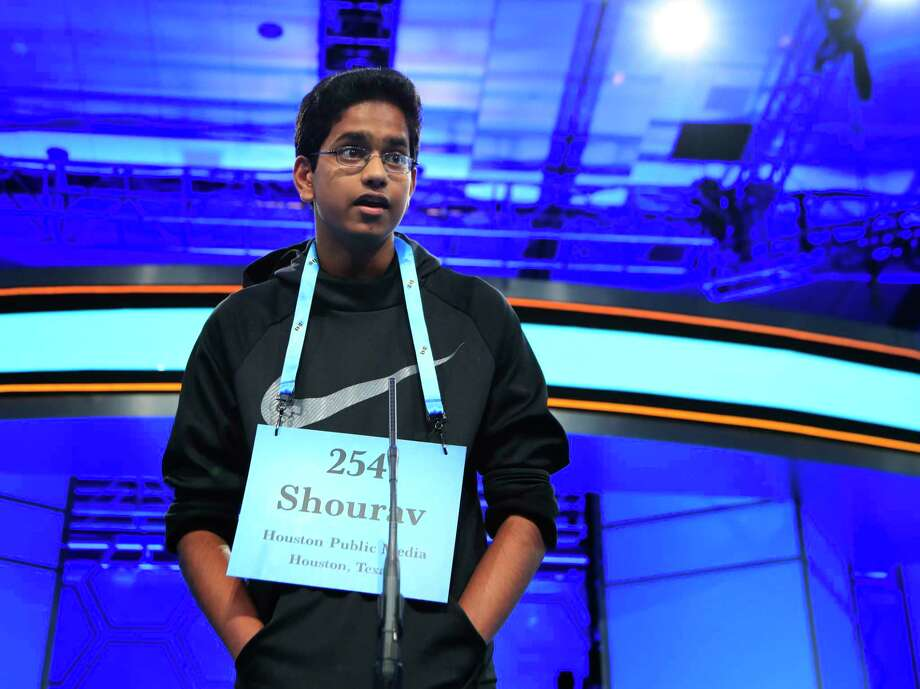 "Last night Shourav Dasari, 14, made waves after he pulled off what is essentially a ""bat flip"" of sorts, spelling his word ""mogollon"" almost immediately after it was given to him. Usually spelling bee kids ask questions about the word, need to hear it in a sentence, or otherwise stall.Click through to see the words that have made champions at the National Spelling Bee... Photo: Manuel Balce Ceneta, Associated Press / Copyright 2017 The Associated Press. All rights reserved."