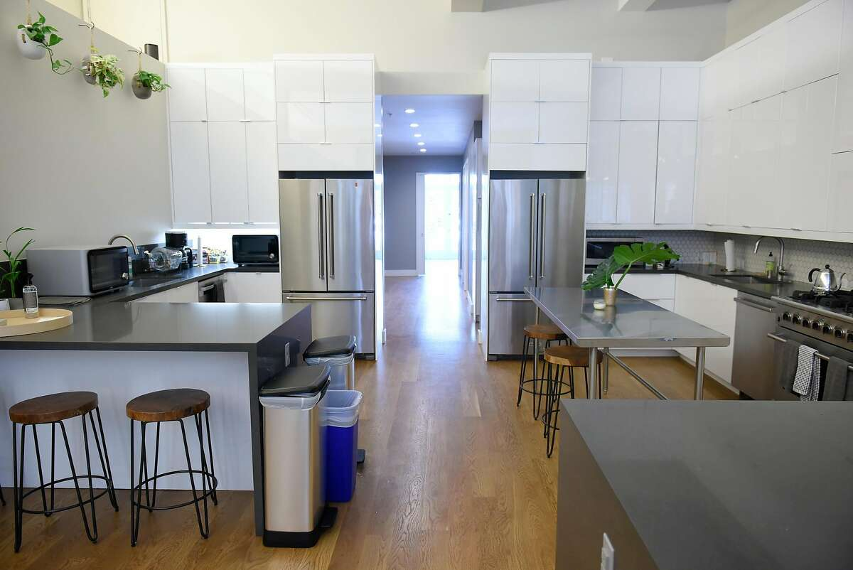 The shared kitchen area of Star City's newly finished building at 2072 Mission Street in San Francisco, CA, on Thursday June 1, 2017.