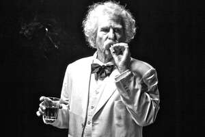 "Val Kilmer as Mark Twain in ""Cinema Twain,"" a recorded one-man show screened June 1 at Improv Houston."