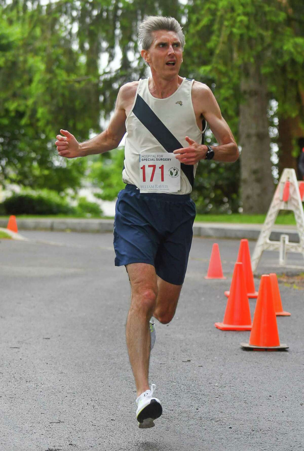 David Ott of Darien was the overall second-place finisher of the 53rd Annual Jim Fixx Memorial Day Race on May 29 in Greenwich.