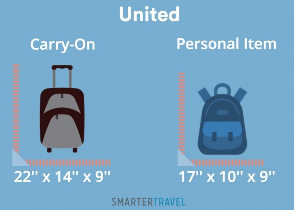 United is not particularly generous when it comes to carry-on item or personal item size.