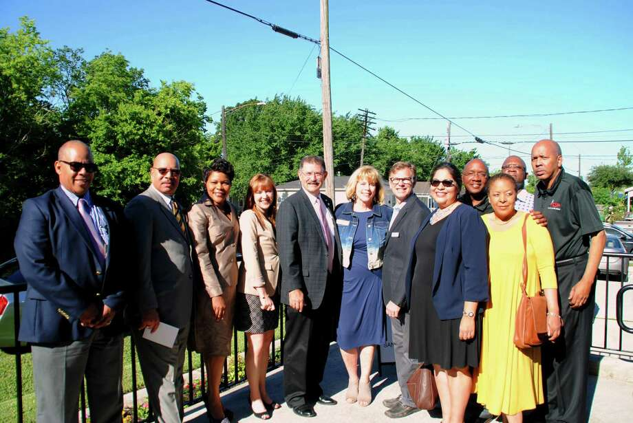 Guests including Houston City Council representatives, HomeAid Houston construction team and representatives from the GHBA were on hand to help dedicate the completion of A Caring Safe Place, located in Houston's Third Ward.