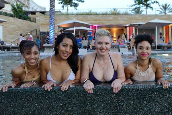 Partiers flocked to La Cantera Resort & Spa on Thursday, June 1, 2017, for Evenings on the Edge, a pool party series held at the resort's Topaz adult pool. The event included summer-inspired cocktails, live music performances and gorgeous views of the Texas Hill Country.