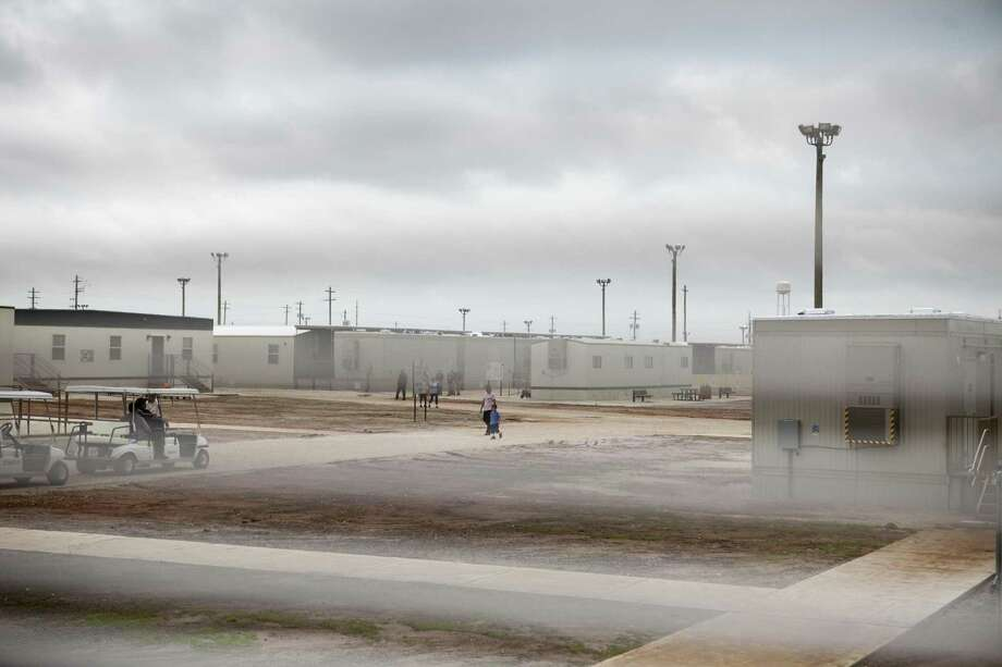 The South Texas Family Residential Center that houses thousands of women and children who were caught crossing the border illegally seeking asylum in the U.S., in Dilley, Texas, May 14, 2015.  Lawmakers, advocates and others say confinement only compounds the suffering of women fleeing predatory gangs or domestic abuse in Central America. (Ilana Panich-Linsman/The New York Times) -- NO SALES; FOR EDITORIAL USE ONLY WITH STORY SLUGGED IMMIG DETENTION BY JULIA PRESTON. ALL OTHER USE PROHIBITED. Photo: ILANA PANICH LINSMAN, STR / New York Times / NYTNS