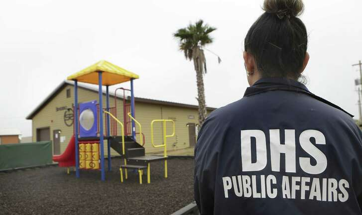 """Secretary of Homeland Security Jeh Johnson toured the new South Texas Family Residential Center, just outside Dilley, Texas.  Detained immigrants that are currently being held in Artesia will begin arriving at the Dilley facility within the next two weeks.   Monday, Dec. 15, 2014. This pictured facility, which was a """"man camp"""" for the oil industry, will be used for approximatly 45 day until the new facility is completed."""