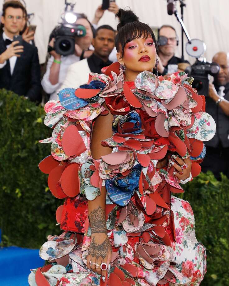 The walking art exhibit Rihanna. Photo: Taylor Hill/Getty Images