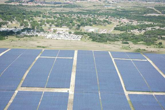 This $100 million, 15-megawatt solar array at Fort Hood was financed and constructed by Virginia-based Apex Clean Energy and will provide power directly into Fort Hood's power grid.