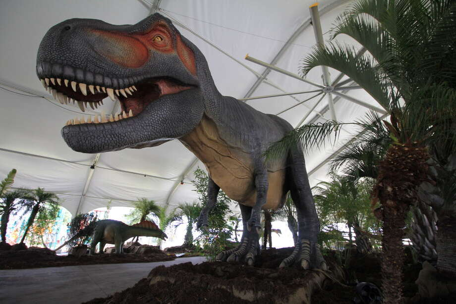 Embark on a Jurassic adventure this summer when Dinos Alive comes to Moody Gardens. Photo: Dinos Alive At Moody Garden