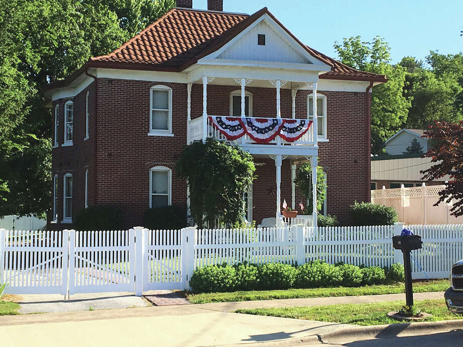 The Village Board recently designated three Glen Carbon properties as Historical Landmarks. Pictured is the Rasplica House, located at 192 S. Main St. The home was built in 1904 by local businessman W.B. Rasplica. Photo: John Sommerhof • Intelligencer