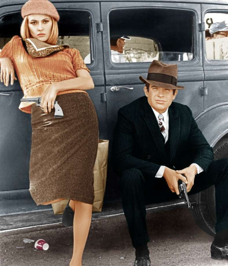 "With the opening of ""Bonnie and Clyde"" during the summer of 1967, movie newcomer Faye Dunaway became a star and fashion icon and actor Warren Beatty launched a new career as a producer. Photo: Warner Bros. / Contributed Photo / Connecticut Post Contributed"