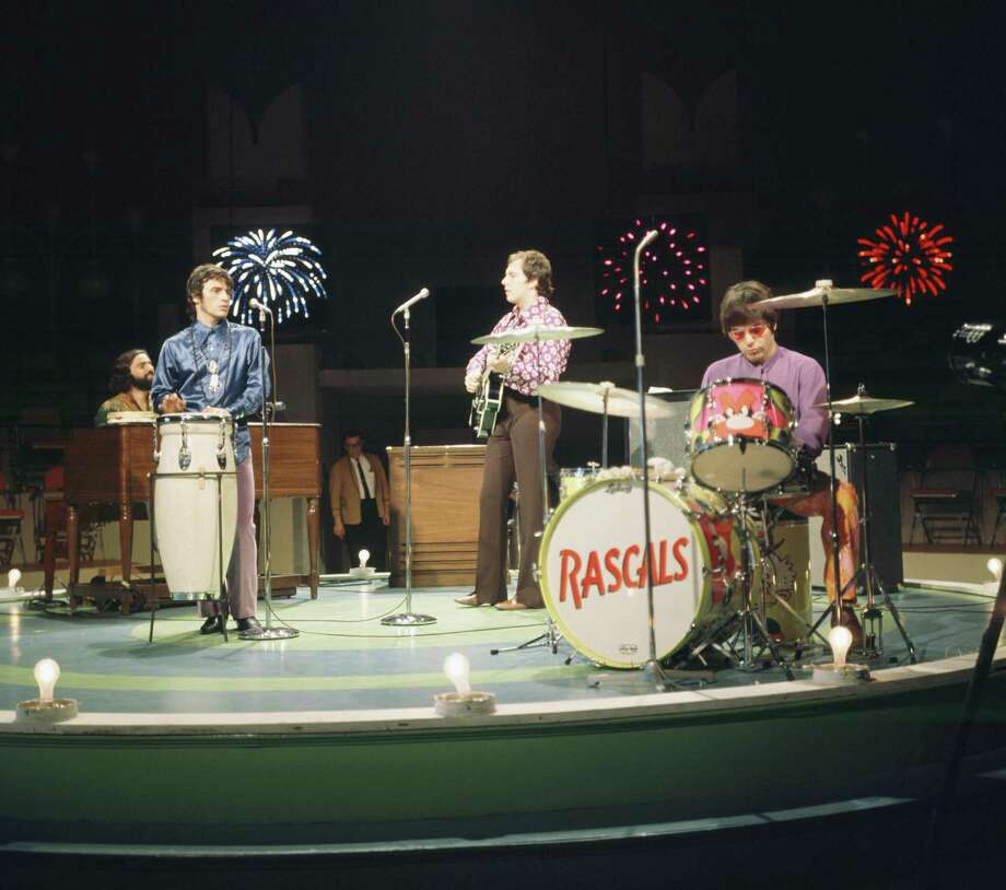 "The Rascals play for an episode of ""The Kraft Music Hall"" in 1968 on NBC. About a year earlier, the band rocked Staples High School, part of a string of big-name performers that made a stop in Westport from about 1966 to 1968. Photo: NBC /NBCU Photo Bank Via Getty Images / 2012 NBCUniversal, Inc."