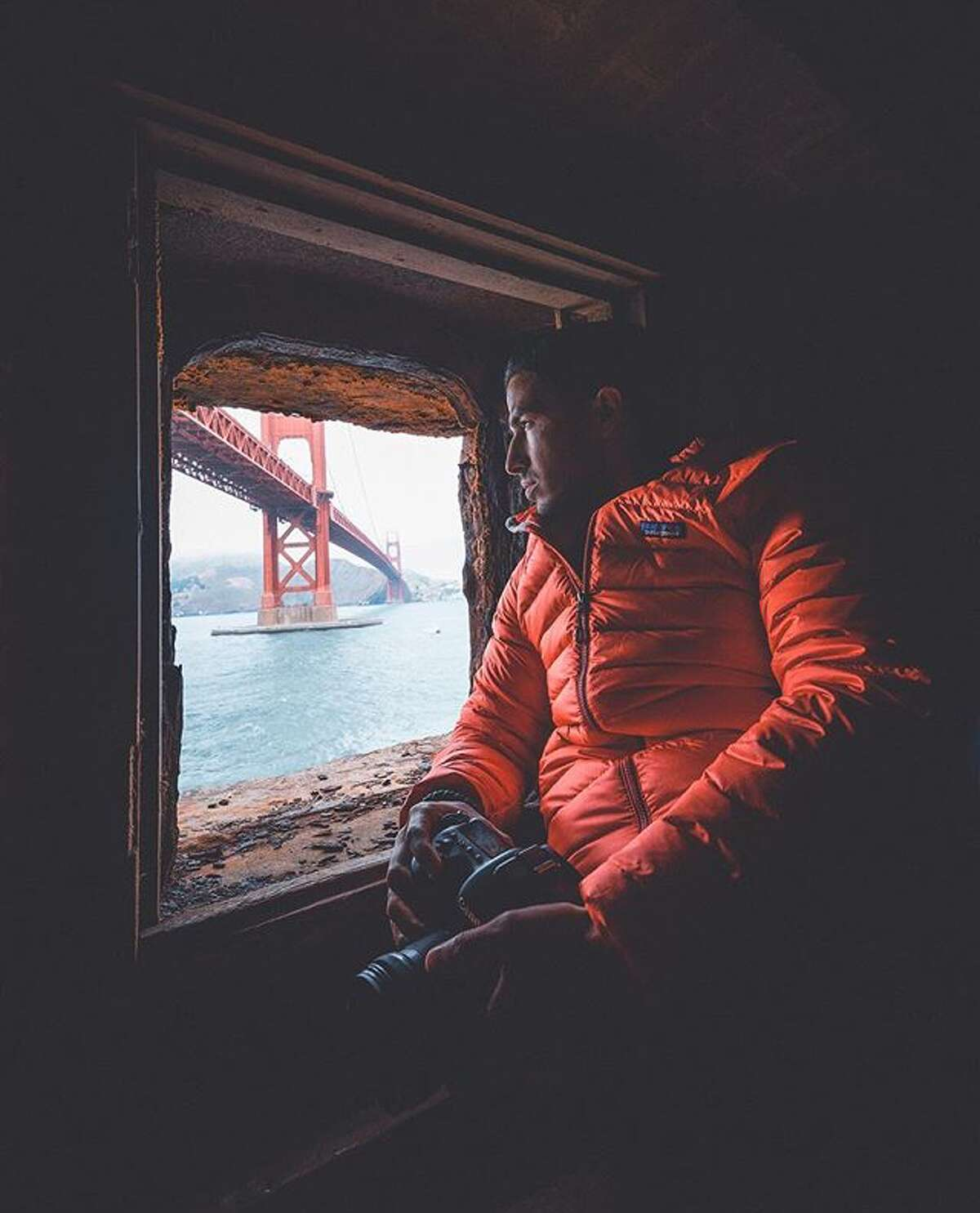 @adam_ali91 found a window view of the Golden Gate Bridge.