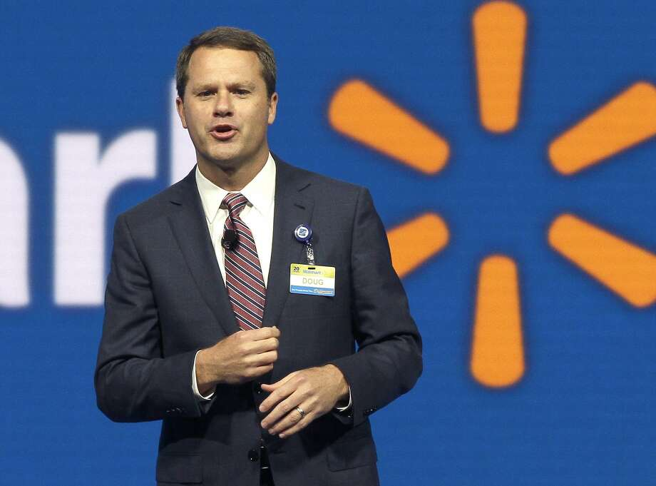 FILE - In this June 5, 2015 file photo, Wal-Mart Store, Inc., Chief Executive Officer Doug McMillon speaks at the Wal-Mart shareholder meeting in Fayetteville, Ark. Photo: Danny Johnston, Associated Press