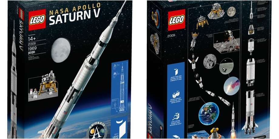 PHOTOS: NASA history in LEGO form Fans of NASA history and LEGO sets, your prayers have been answered in grand style. This week the LEGO company released a 1,969-piece replica of NASA's Apollo Saturn V rocket. Now LEGO builders can construct the rocket that helped put men on the moon. Click through to see more of the LEGO set...  Photo: LEGO