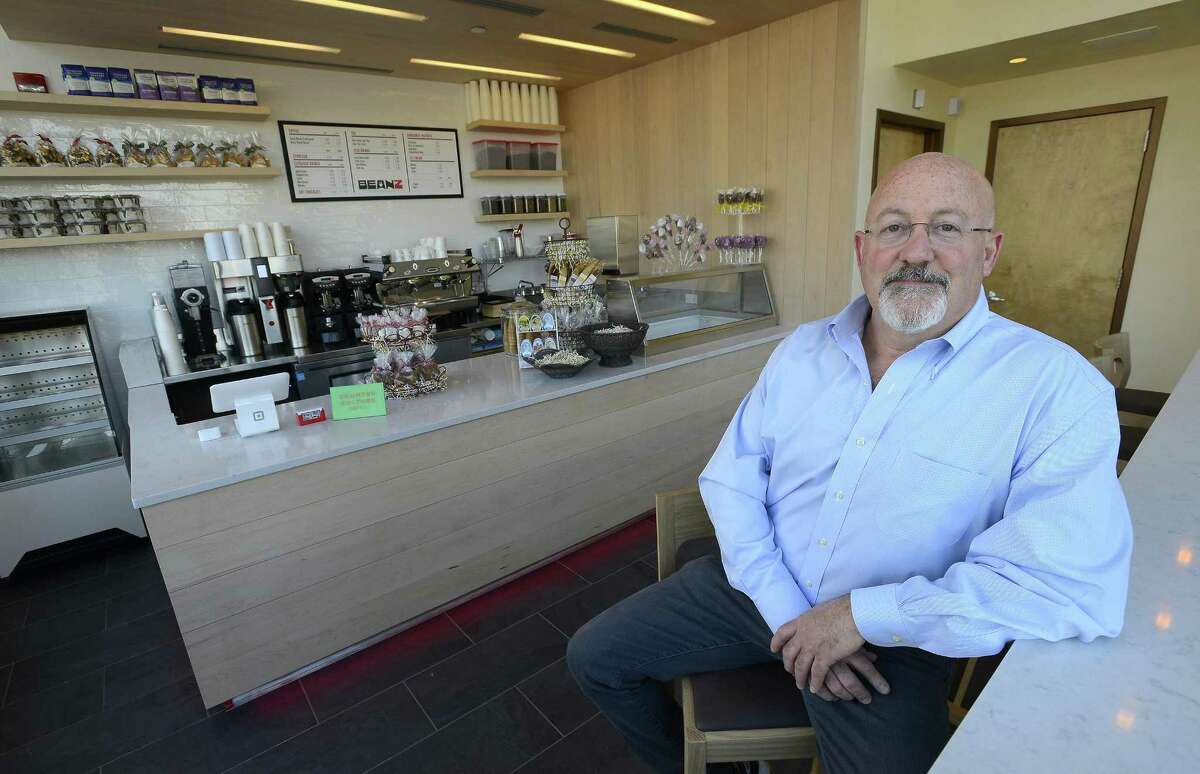 Owner Andrew Zuckert is photographed at Beanz coffee bar at 1032 Hope St., in Stamford, Conn. on Thursday, June 1, 2017.