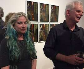 Cheryl Haines and Andy Goldsworthy at her gallery