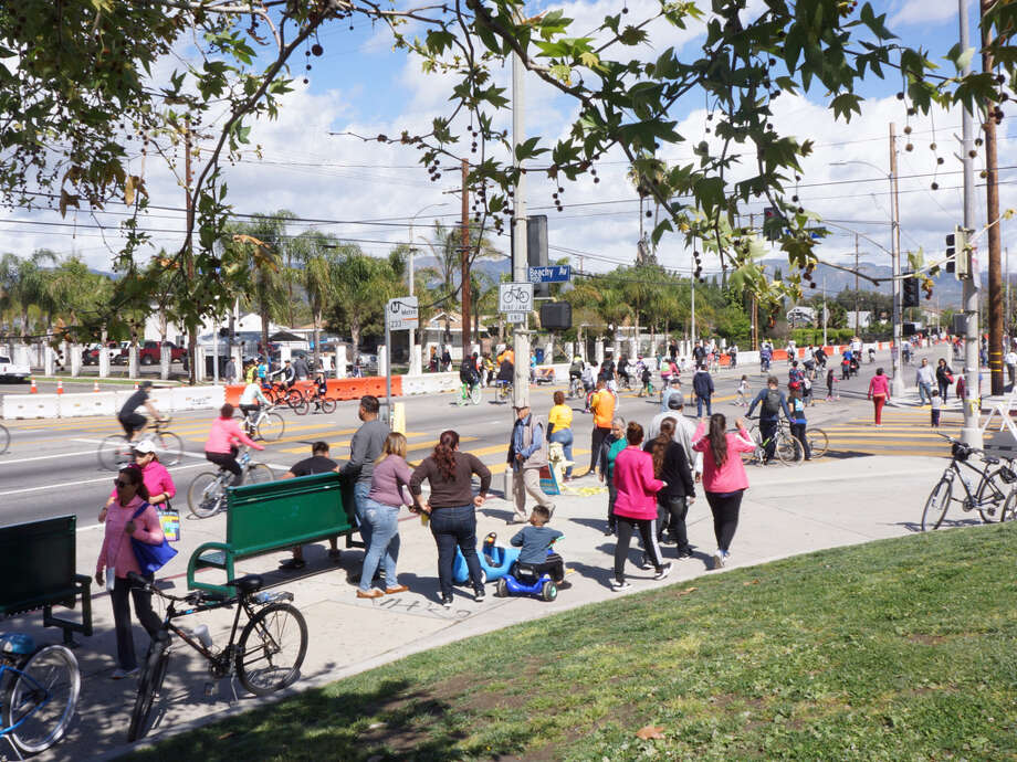 The average CicLAvia draws more than 100,000 people out into the streets of Los Angeles. Photo: CicLAvia