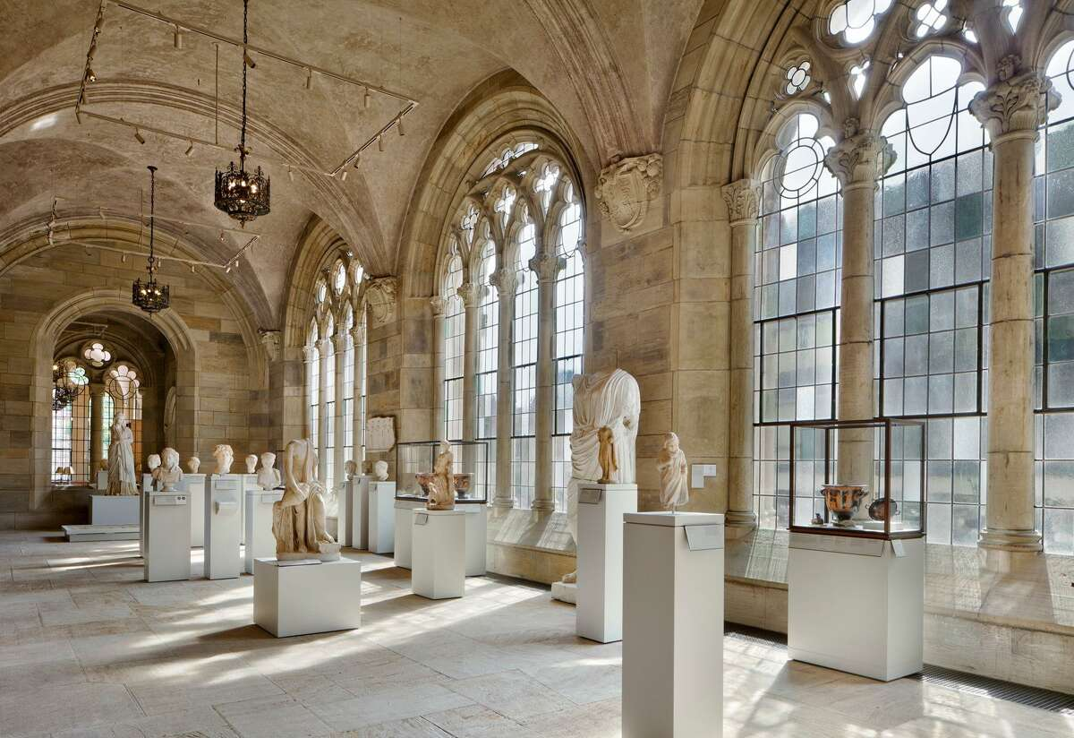 A view of the restored Ancient Art gallery within the renovated and expanded Yale Art Gallery in New Haven.
