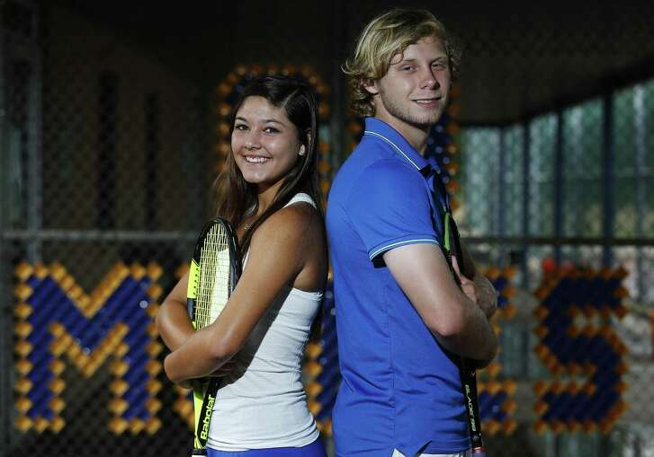 Alamo Heights' Campbell Erwin (right) and Brittney Wilbur are the 2017 Express-News Boys and Girls Tennis Players of the Year.
