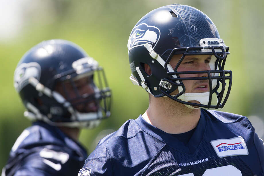 """1. Luke Joeckel's transition to guard is going well The consensus with the former No. 2 overall pick in 2013 is that in his four years with the Jacksonville Jaguars he never lived up to his draft position. But he's OK with proving his worth in Seattle as the team's new starting left guard on a one-year deal.""""It's that prove-it deal and it's exciting,"""" said Joeckel, a left tackle until last season. """"Got to go up there and perform. Got to play well, got to play aggressive and got to prove to the whole NFL that I can play and I can compete in this league at a high level.""""Coach Pete Carroll said he's been """"fired up"""" about Joeckel's availability coming off of reconstructive knee surgery in October, saying the 6-foot-6, 307-pound guard hasn't missed a day of offseason workouts.""""In the format that we're doing he's able to be in the huddle a ton,"""" Carroll said. """"He's practiced a bunch with us. He's making really good progress. We're still careful with him. He's in good enough shape to be able to take care of a lot of work that we didn't think he'd get done.""""As for playing guard, Joeckel said he """"felt good"""" there last season and is still comfortable at that spot now. Photo: GRANT HINDSLEY, SEATTLEPI.COM / SEATTLEPI.COM"""