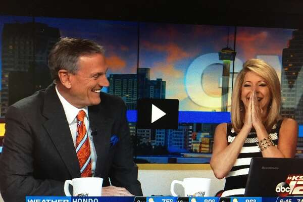 Leslie Mouton and David Sears got a huge kick out of being featured on Kimmel.