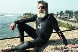 Jack O'Neill inventor of the wetsuit  Photos taken near East Cliff Drive in Santa Cruz March 11, 1992