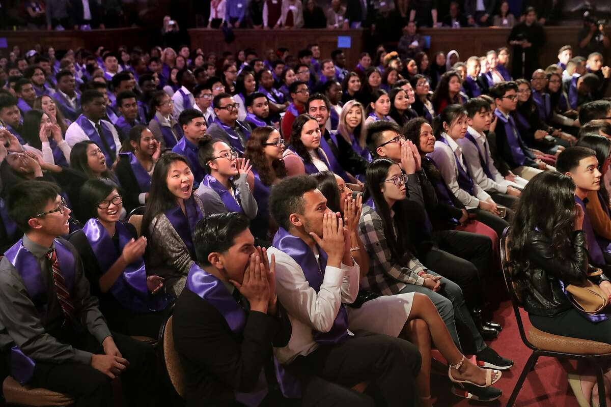 400 high school students who are graduates of the Oakland Promise Program gathered at the Scottish Rite Temple in Oakland, Ca., on Wednesday May 31, 2017, for an awards ceremony. The students are set to head to college with money provided by the Oakland Promise program and the East Bay College Fund.