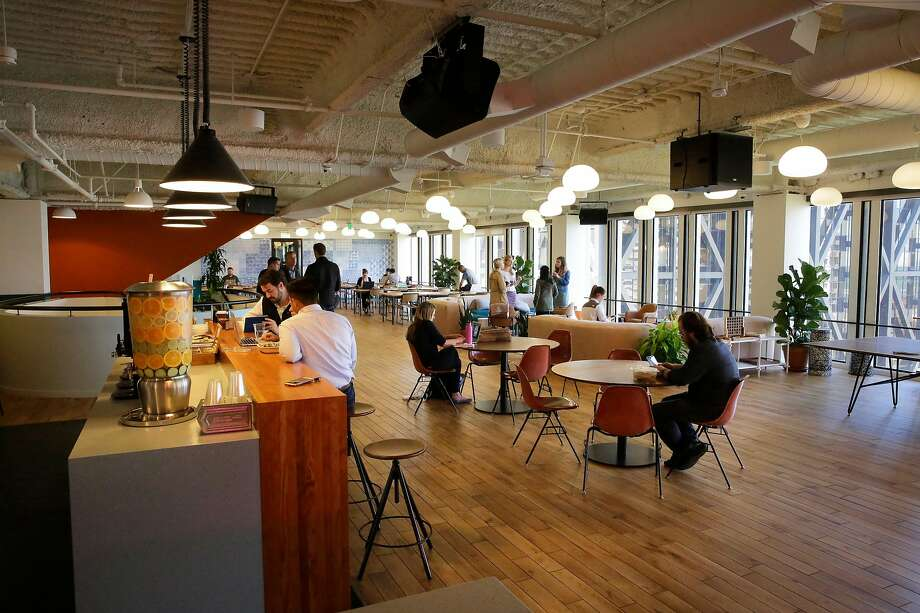 """WeWork's leasing contract includes """"beverages"""" — language which some lawyers say suggests alcohol provided might be considered sold to those who partake. Photo: Michael Macor, The Chronicle"""