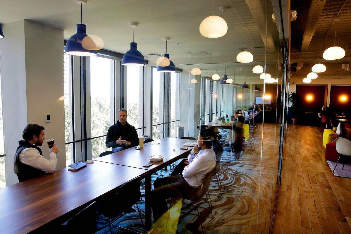 The offices of WeWork in the Embarcadero 2 building in San Francisco, Ca., on Friday June 2, 2017. The San Francisco Treasurer's Office is casting a wider net in search of entrepreneurs who need to get the city's $91 a year business license and has asked co-working space WeWork to provide information on all its San Francisco users so it can notify them about the license.