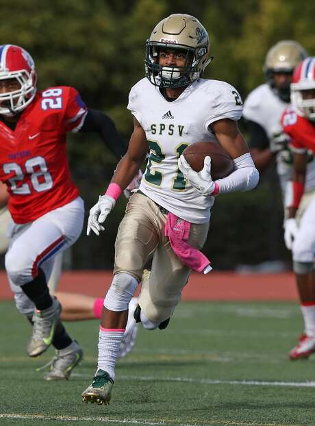 St, Patrick-St. Vincent-Vallejo senior Marquel Johnson has already won state football and basketball championships this school year. On Saturday, he'll go for another title as the Bruins play St. Joseph Notre Dame-Alameda for the North Coast Section Division IV title. Photo: Darren Yamashita, MaxPreps