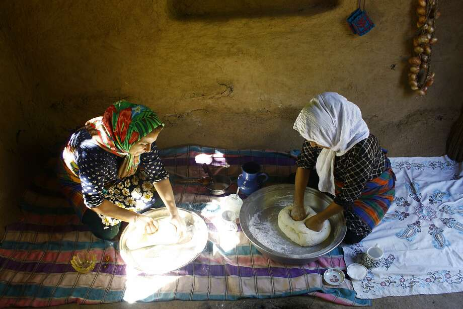 Making bread on Hanif Sadr's family farm in Northern Iran. Photo: Hanif Sadr