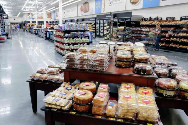 The bakery and meat departments of the newly opened Wal-Mart store in Katy, TX, June, 2017. (Michael Wyke / For the  Chronicle)