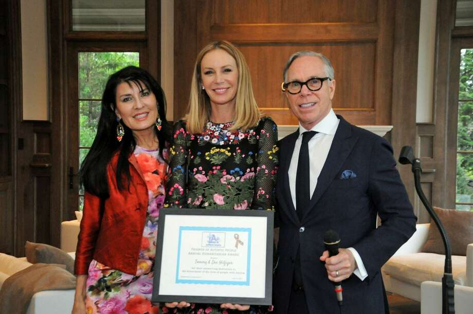 Brita Darany von Regensburg presenting an award to Tommy & Dee Hilfiger for their unswerving dedication to the betterment of the lives of people with Autism at FAP's 20th anniversary event last week. Photo: Contributed