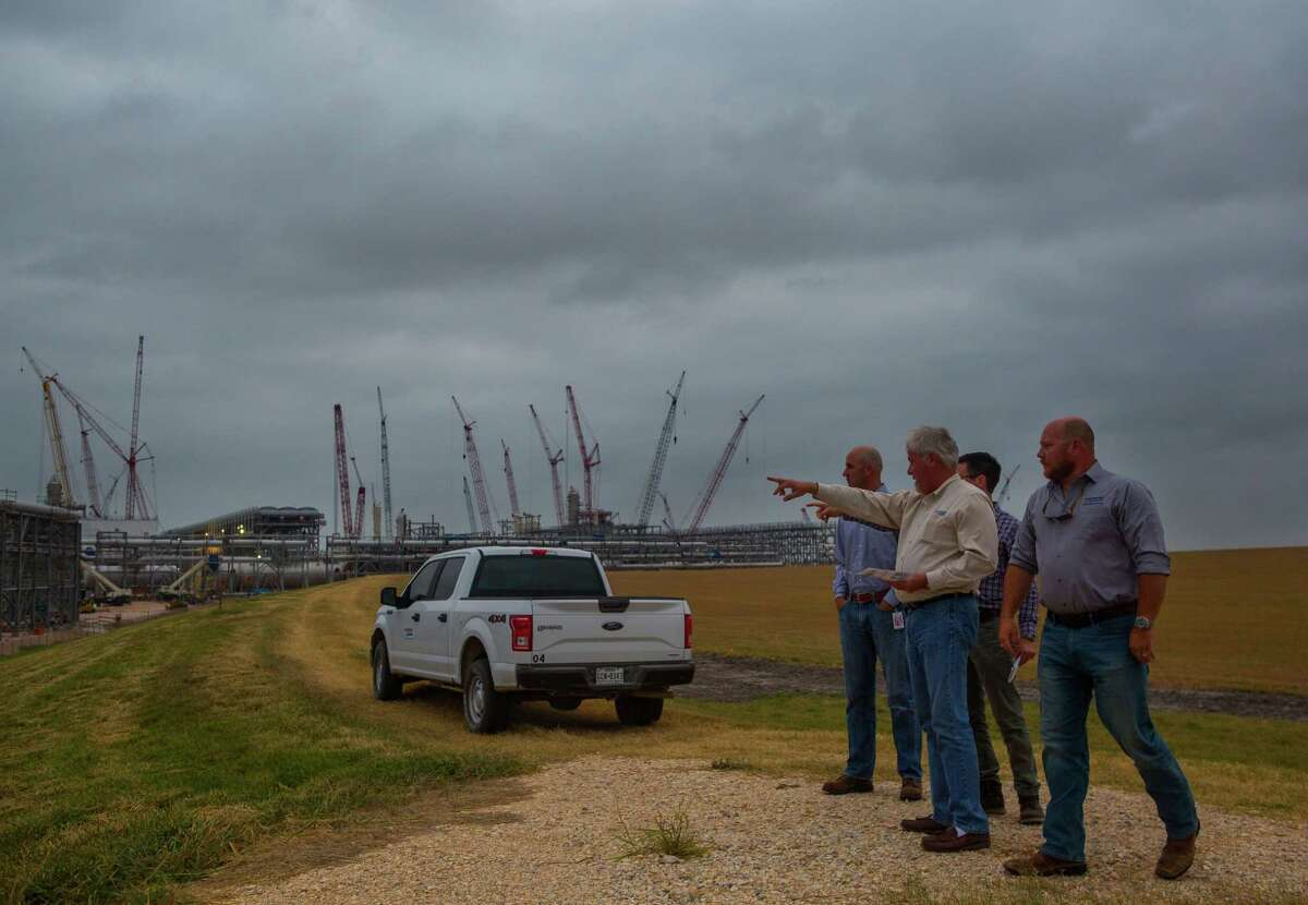 Construction of Cheniere's liquefied natural gas export facility continues, Wednesday, May 17, 2017, near Portland, TX. (Mark Mulligan / Houston Chronicle)